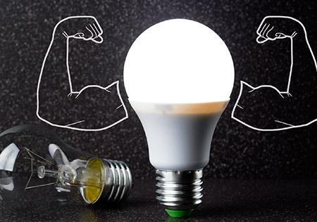 As vantagens da substituição de lâmpadas tradicionais por LED